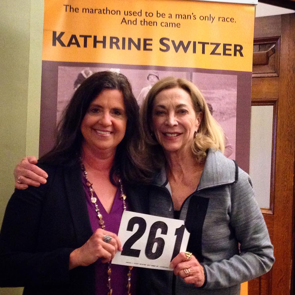 Tracy and Kathrine Switzer